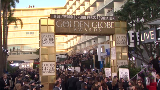 atmosphere signage at the 70th annual golden globe awards arrivals in beverly hills ca on 1/13/13 - atmosfär råmaterial bildbanksvideor och videomaterial från bakom kulisserna