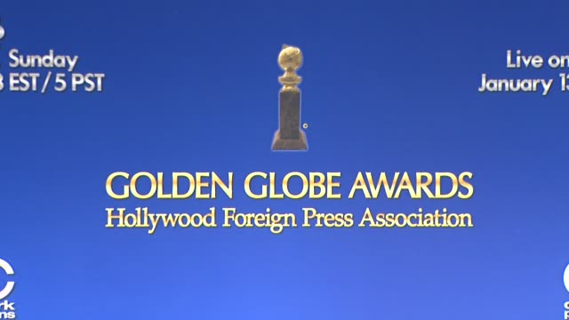 signage at the 70th annual golden globe awards nominations announcement, 12/11/12 beverly hills ca - beverly hills点の映像素材/bロール