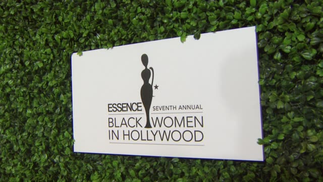 signage at the 7th annual essence black women in hollywood luncheon at beverly hills hotel on february 27, 2014 in beverly hills, california. - beverly hills hotel stock videos & royalty-free footage