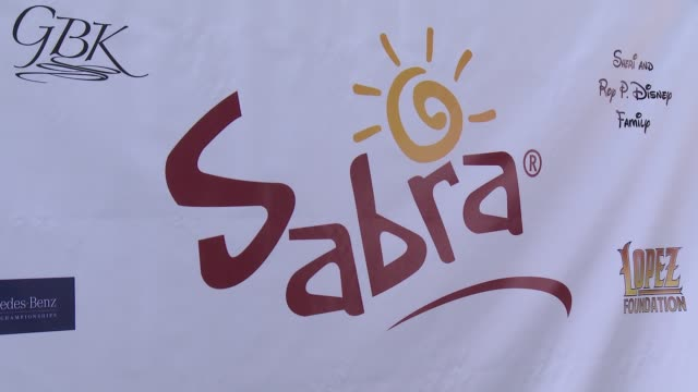 signage at the 7th annual george lopez celebrity golf classic presented by sabra salsa at lakeside golf club on may 05, 2014 in toluca lake,... - toluca lake stock videos & royalty-free footage