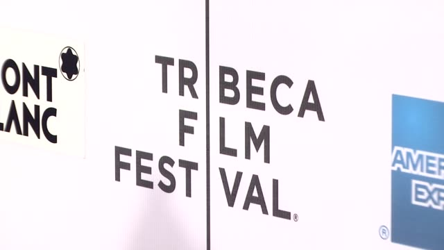 "signage at the 7th annual tribeca film festival - ""finding amanda"" premiere at borough of manhattan community college / tribeca performing arts in... - community college stock videos & royalty-free footage"
