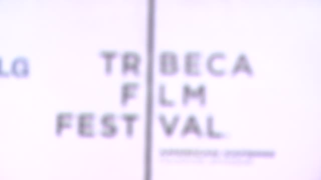 "signage at the 7th annual tribeca film festival - ""i am because we are"" premiere at borough of manhattan community college / tribeca performing arts... - community college stock videos & royalty-free footage"