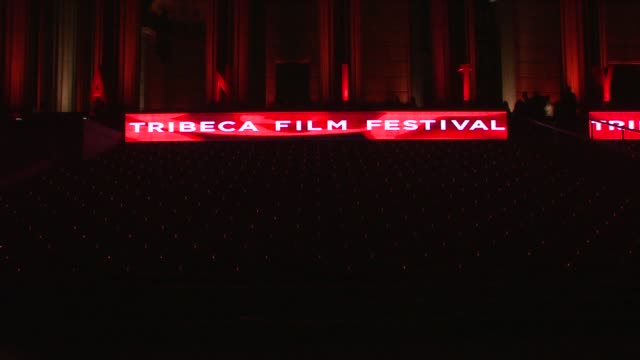 Signage at the 8th Annual Tribeca Film Festival Vanity Fair Party at New York NY