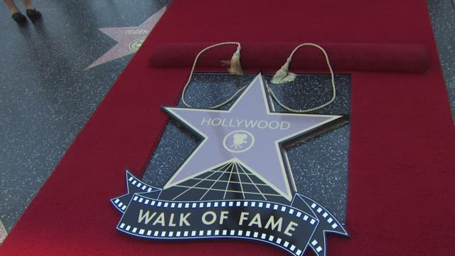Signage at the Adam Sandler Honored With A Star On The Hollywood Walk Of Fame at Hollywood CA