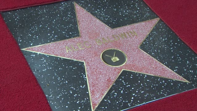 signage at the alec baldwin honored with a star on the hollywood walk of fame at hollywood ca - alec baldwin stock videos & royalty-free footage