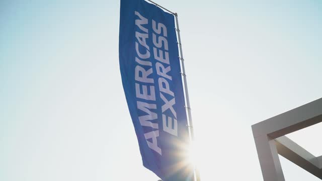 signage at the american express courts at pier 76 on august 24, 2021 in new york city. - pier stock videos & royalty-free footage