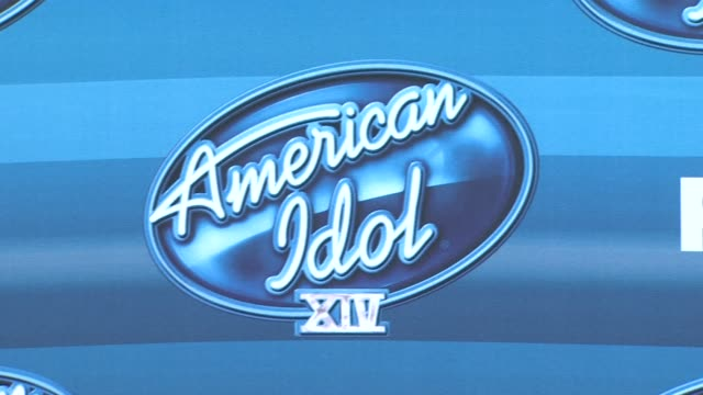 "signage at the ""american idol"" xiv grand finale - arrivals at dolby theatre on may 13, 2015 in hollywood, california. - american idol stock videos & royalty-free footage"