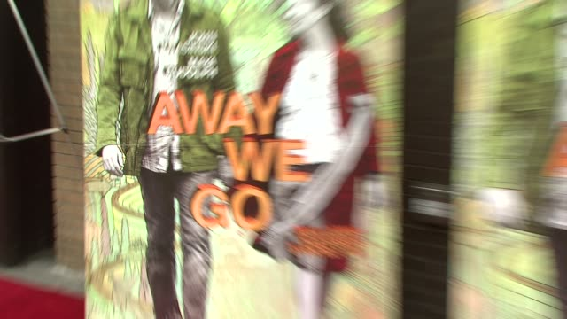 signage at the 'away we go' screening at new york ny - away we go video stock e b–roll