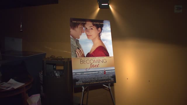 signage at the 'becoming jane' new york premiere at landmark's sunshine theatre in new york, new york on july 24, 2007. - landmark sunshine theater stock videos & royalty-free footage