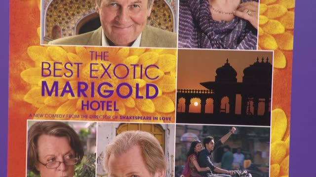 signage at The Best Exotic Marigold Hotel New York Premiere Presented By Fox Searchlight Pictures And Participant Media at Ziegfeld Theatre on April...