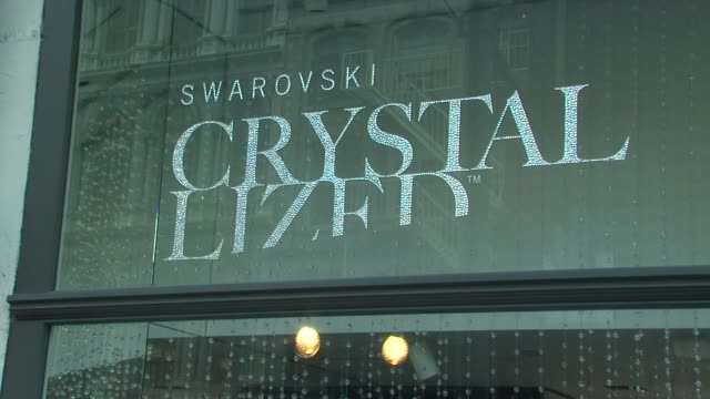 Signage at the Blake Lively Hosts Grand Opening of Swarovski CRYSTALLIZED Concept Store at New York NY