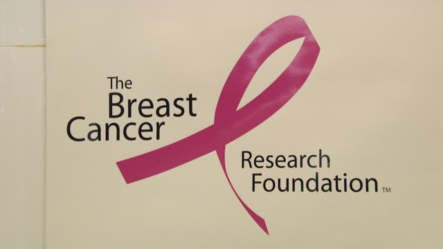 Signage at the Bloomingdale's The Estee Lauder Companies Kick Off Breast Cancer Awareness Month at New York NY