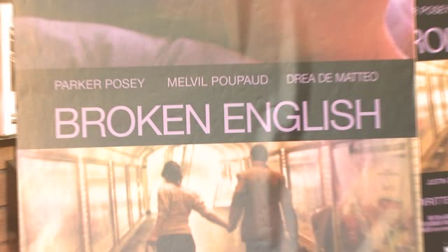 Signage at the 'Broken English' New York Premiere at Landmark Sunshine Cinema in New York New York on June 18 2007