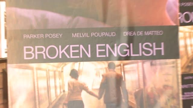 signage at the 'broken english' new york premiere at landmark sunshine cinema in new york, new york on june 18, 2007. - landmark sunshine theater stock videos & royalty-free footage