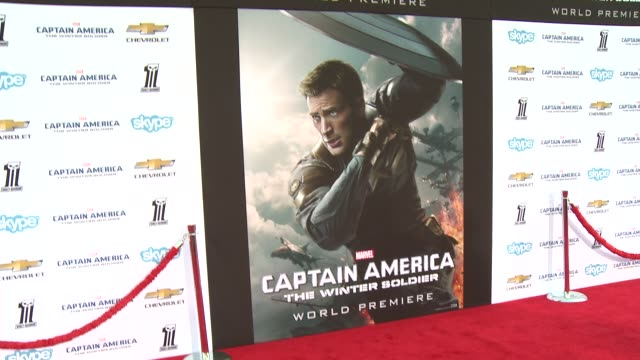 vídeos y material grabado en eventos de stock de atmosphere signage at the captain america the winter soldier los angeles premiere at the el capitan theatre on march 13 2014 in hollywood california - cines el capitán