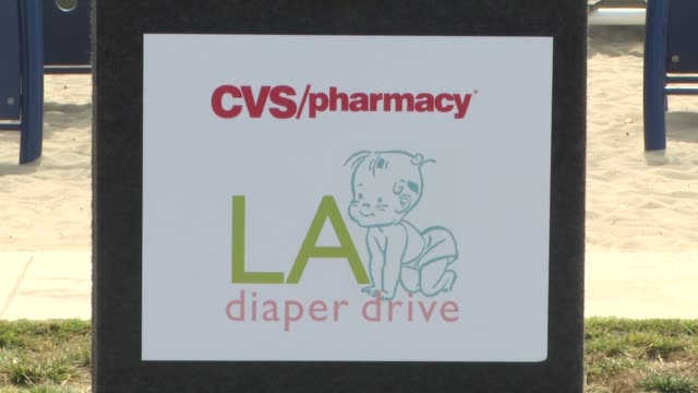 signage at the cvs/pharmacy 'la's biggest playdate' at los angeles ca - cvs caremark stock videos and b-roll footage