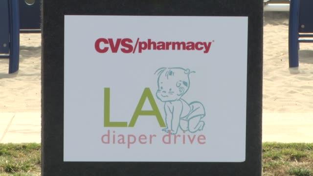 signage at the cvs/pharmacy 's biggest playdate' at los angeles ca. - cvsケアマーク点の映像素材/bロール