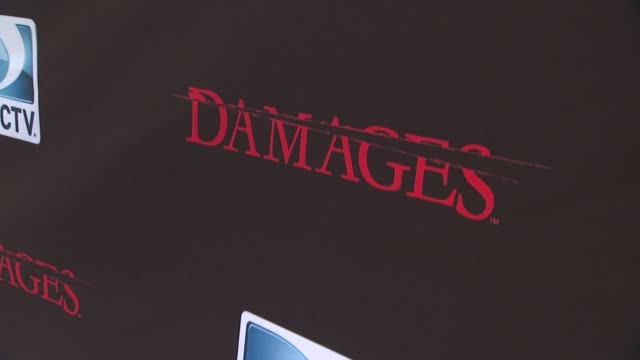 signage at the 'damages' season 4 premiere at new york ny - damages television show stock videos and b-roll footage