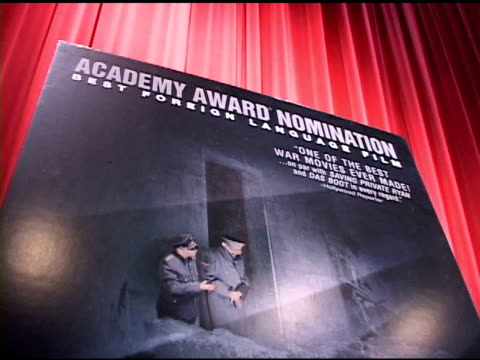 vídeos de stock, filmes e b-roll de signage at the directors of oscar nominated foreign language films at academy of motion picture arts and sciences in beverly hills california on... - academy of motion picture arts and sciences