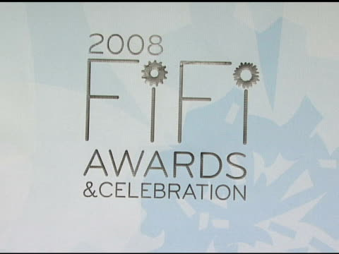 Signage at the Fragrance Foundation Presents 36th Annual FiFi Awards and Celebration at the Park Avenue Armory in New York New York on May 20 2008