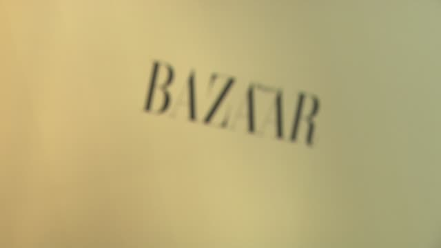 signage at the harper's bazaar celebrates peter lindbergh and holly fisher's new film everywhere at once at borough of manhattan community college /... - community college stock videos & royalty-free footage