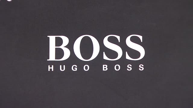 signage at the hugo boss hosts boss black fashion show at cunard building in new york, new york on october 17, 2007. - hugo boss stock videos & royalty-free footage