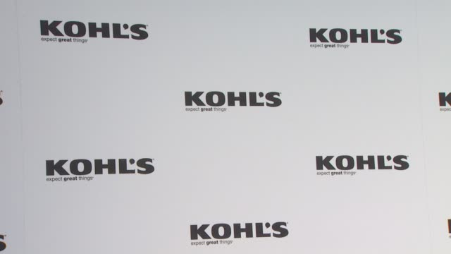 signage at the jennifer lopez marc anthony announce plans to launch two exclusive lifestyle brands at kohl's department stores at west hollywood ca - kohls stock videos & royalty-free footage