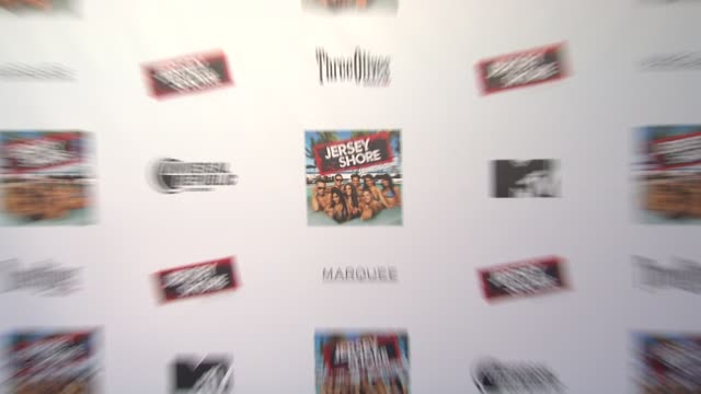 signage at the 'jersey shore' soundtrack release party at new york ny - soundtrack stock videos & royalty-free footage
