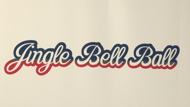 vídeos de stock e filmes b-roll de signage at the jingle bell ball at 02 arena on december 08 2012 in london england - aparelhagem de áudio