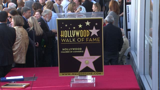 signage at the jon cryer honored with star on the hollywood walk of fame at hollywood ca - jon cryer video video stock e b–roll