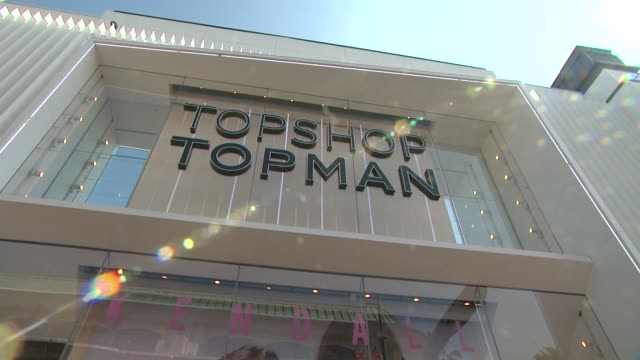 atmosphere signage at the kendall kylie fashion line launch party at topshop on june 03 2015 in los angeles california - fashion collection stock videos & royalty-free footage