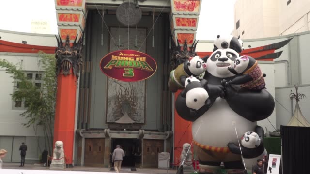 ATMOSPHERE signage at the 'Kung Fu Panda 3' World Premiere at TCL Chinese Theatre on January 16 2016 in Hollywood California