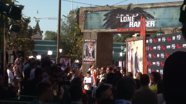 atmosphere signage at the lone ranger los angeles premiere atmosphere signage at the lone ranger los ange at disney california adventure park on june... - the lone ranger 2013 film stock videos and b-roll footage