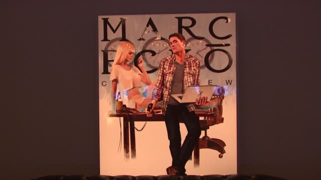 stockvideo's en b-roll-footage met signage at the marc ecko cut sew fall campaign launch with digital muse lindsay lohan at new york ny - marc ecko