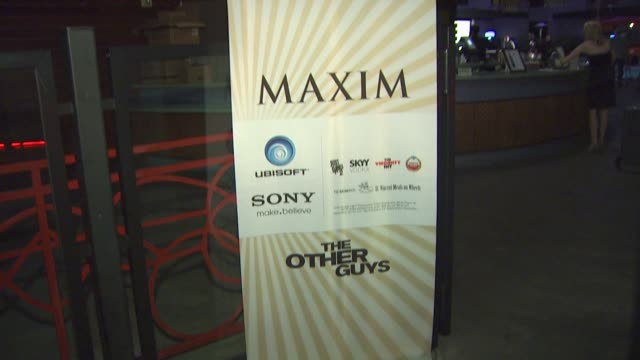 Signage at the Maxim Ubisoft And Sony Pictures Celebrate The Cast Of 'The Other Guys' at San Diego CA