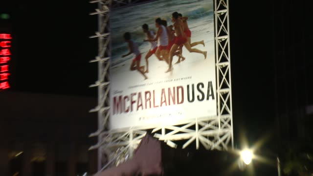 "signage at the ""mcfarland, usa"" los angeles premiere at the el capitan theatre on february 09, 2015 in hollywood, california. - el capitan theatre stock videos & royalty-free footage"
