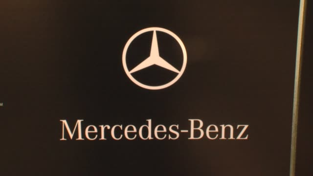 Signage at the MercedesBenz Exclusive Preview Of The 2011 SLS AMG In Grand Turismo 5 at Los Angeles CA
