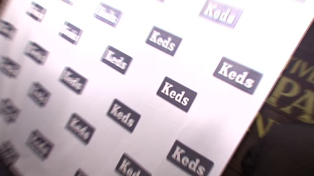 signage at the mischa barton unveils spring 2008 keds ad campaign at the box in nyc at the box in new york, new york on december 5, 2007. - keds stock videos & royalty-free footage