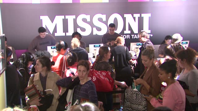 vídeos de stock, filmes e b-roll de signage at the missoni for target private launch event at new york ny. - missoni