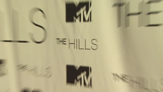 signage at the mtv's 'the hills live a hollywood ending' series finale at hollywood ca - mtv点の映像素材/bロール