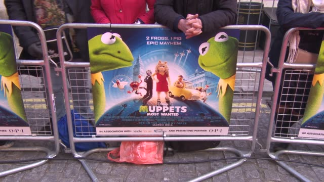 ATMOSPHERE Signage at 'The Muppets Most Wanted' VIP Gala Screening at The Curzon Mayfair on March 24 2014 in London England