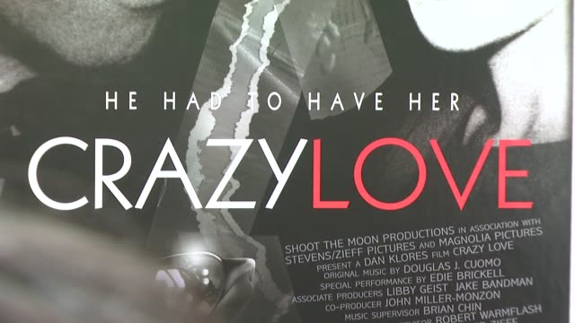 signage at the new york premiere of the award-winning documentary 'crazy love' at the beekman 1&2 theater in new york, new york on may 22, 2007. - ドキュメンタリー映画点の映像素材/bロール