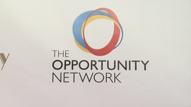 atmosphere signage at the opportunity networks 7th annual night of opportunity at cipriani wall street on april 07 2014 in new york city - cipriani wall street stock videos & royalty-free footage