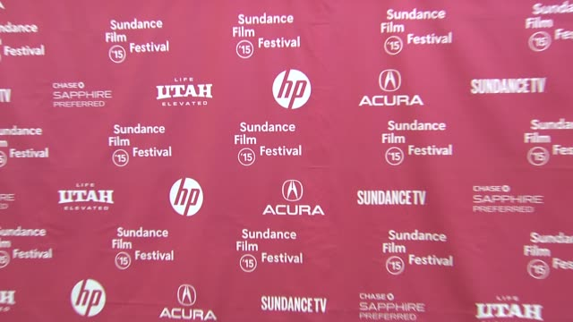 """signage at """"the overnight"""" world premiere - 2015 sundance film festival at eccles center theatre on january 23, 2015 in park city, utah. - park city stock videos & royalty-free footage"""