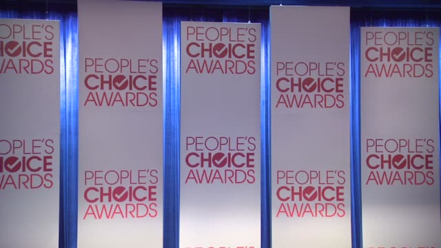 signage at the people's choice awards 2012 nominations press conference - people's choice awards stock videos & royalty-free footage