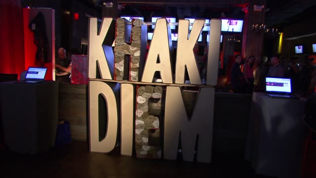 signage at the peter facinelli and joel madden attend the dockers 'khakis make the man' event at new york ny. - peter facinelli video stock e b–roll