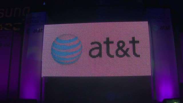 Signage at the Samsung Infuse 4G For ATT Launch Event Featuring Nicki Minaj at Los Angeles CA