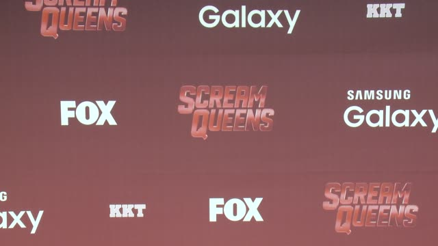 "signage at the ""scream queens"" los angeles premiere & party at the wilshire ebell theatre on september 21, 2015 in los angeles, california. - wilshire ebell theatre stock videos & royalty-free footage"