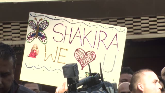signage at the shakira honored with star on the hollywood walk of fame at hollywood ca - shakira stock videos and b-roll footage