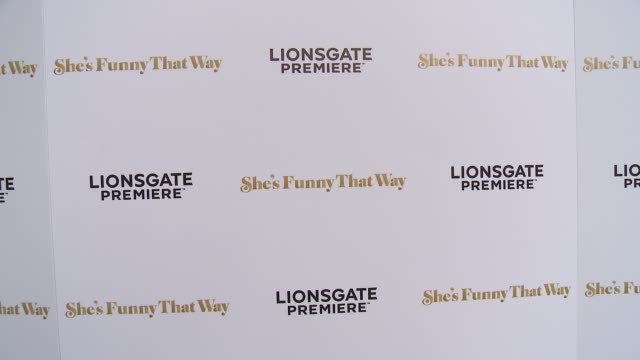 """signage at the """"she's funny that way"""" los angeles premiere at harmony gold theatre on august 19, 2015 in los angeles, california. - she's funny that way点の映像素材/bロール"""